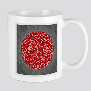 Red Celtic Art Curls Mugs