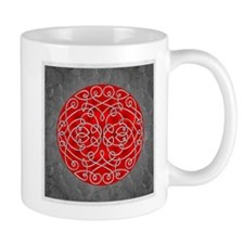 Red Celtic Art Curls Mugs