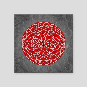 Red Celtic Art Curls Sticker