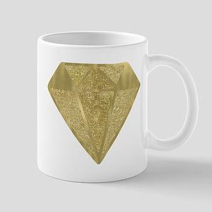 Gold Glittery Diamond Mugs