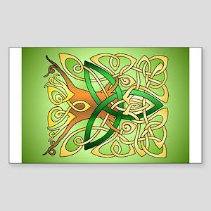 Celtic Art Trinity Tree Green Sticker