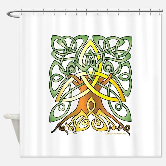 Celtic Art Trinity Tree Brown - Unfilled Shower Cu