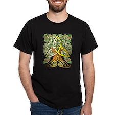 Celtic Art Trinity Tree Brown - Filled T-Shirt