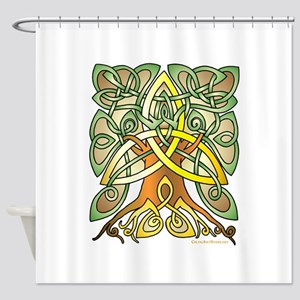 Celtic Art Trinity Tree Brown - Filled Shower Curt