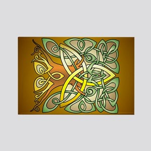 Celtic Art Trinity Tree Brown Magnets