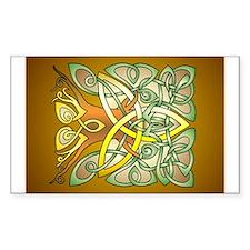 Celtic Art Trinity Tree Brown Sticker