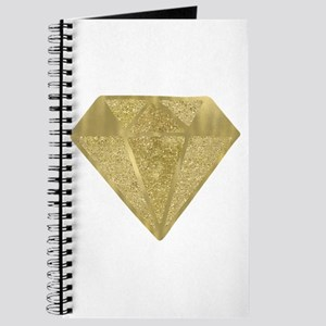 Gold Glittery Diamond Journal