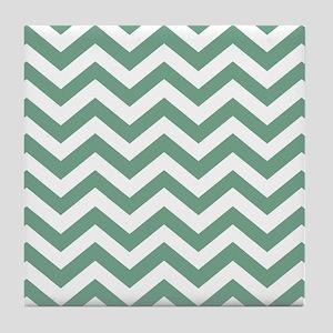 Chevron Zig Zag Pattern: Seafoam Gree Tile Coaster