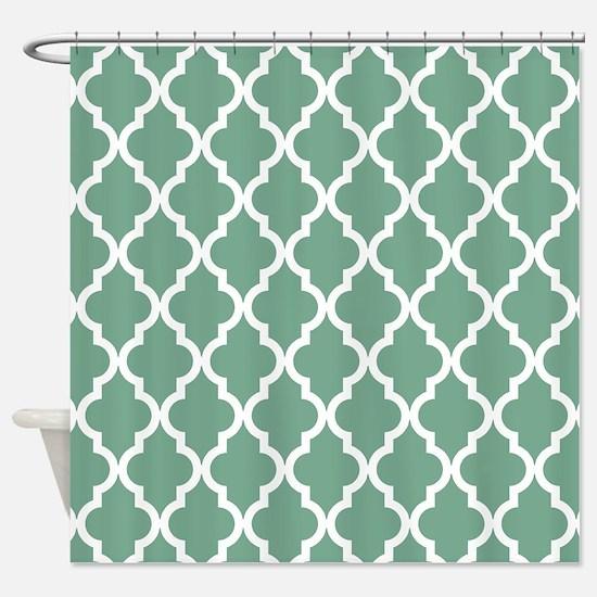 Moroccan Quatrefoil Pattern: Seafoa Shower Curtain