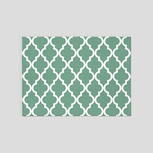 Moroccan Quatrefoil Pattern: Seafoa 5'x7'Area Rug