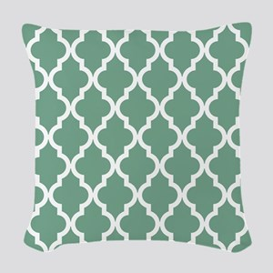 Moroccan Quatrefoil Pattern: S Woven Throw Pillow