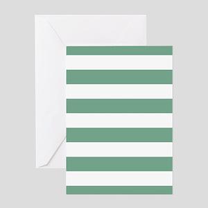 Horizontal Stripes: Seafoam Green Greeting Card