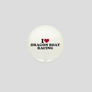 I love Dragon boat racing Mini Button