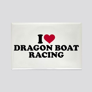 I love Dragon boat racing Rectangle Magnet