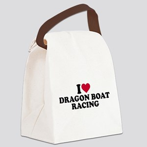 I love Dragon boat racing Canvas Lunch Bag