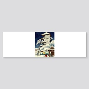 Cool Japanese Oriental Snow Winter Bumper Sticker