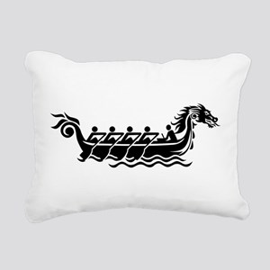 Dragon boat Rectangular Canvas Pillow