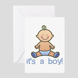 New Baby Boy Cartoon Greeting Cards