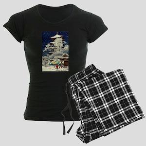 Cool Japanese Oriental Snow Women's Dark Pajamas