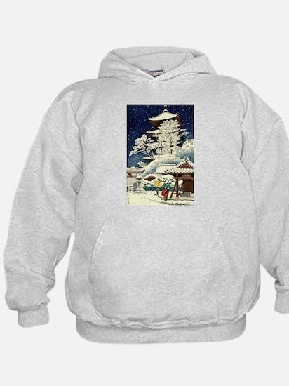 Cool Japanese Oriental Snow Winter Hoody