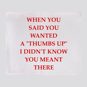 thumbs Throw Blanket