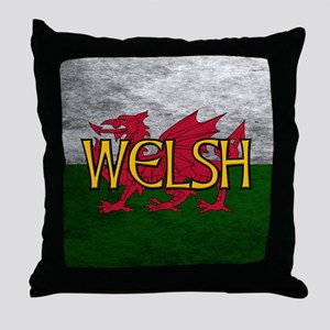 Welsh Red Dragon Flag Throw Pillow
