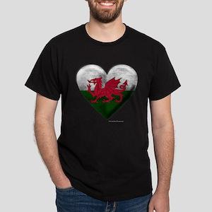 Welsh Flag Heart T-Shirt