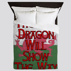 The Red Dragon Will Show The Way Queen Duvet