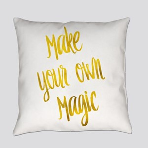 Make Your Own Magic Gold Faux Foil Everyday Pillow
