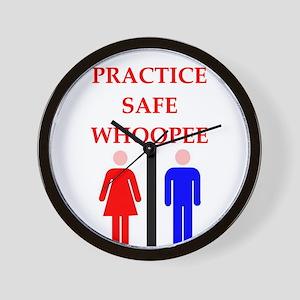 safe sex Wall Clock