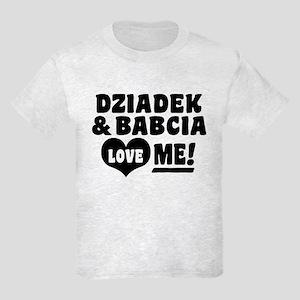 Dziadek and Babcia Love Me Kids Light T-Shirt