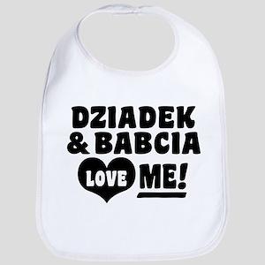 Dziadek and Babcia Love Me Bib