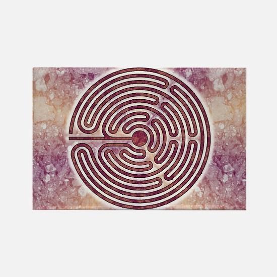 Magenta 10-Circuit Labyrinth Rectangle Magnet