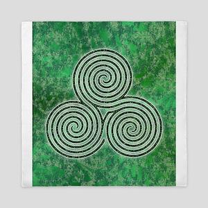 Green Celtic Spiral Triskellion Labyrinth Queen Du