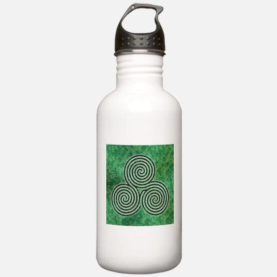 Green Celtic Spiral Triskellion Labyrinth Water Bo