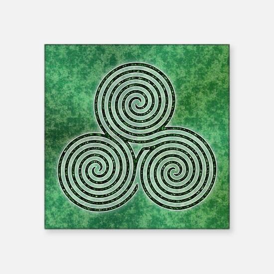 Green Celtic Spiral Triskellion Labyrinth Sticker