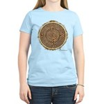 Brown Bayeux Cathedral Labyrinth T-Shirt