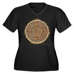 Brown Bayeux Cathedral Labyrinth Plus Size T-Shirt
