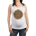 Brown Bayeux Cathedral Labyrinth Maternity Tank To