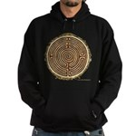 Brown Bayeux Cathedral Labyrinth Hoodie