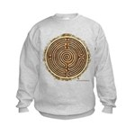 Brown Bayeux Cathedral Labyrinth Sweatshirt