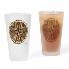Brown Bayeux Cathedral Labyrinth Drinking Glass