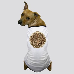 Brown Bayeux Cathedral Labyrinth Dog T-Shirt