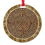 Brown Bayeux Cathedral Labyrinth Ornament