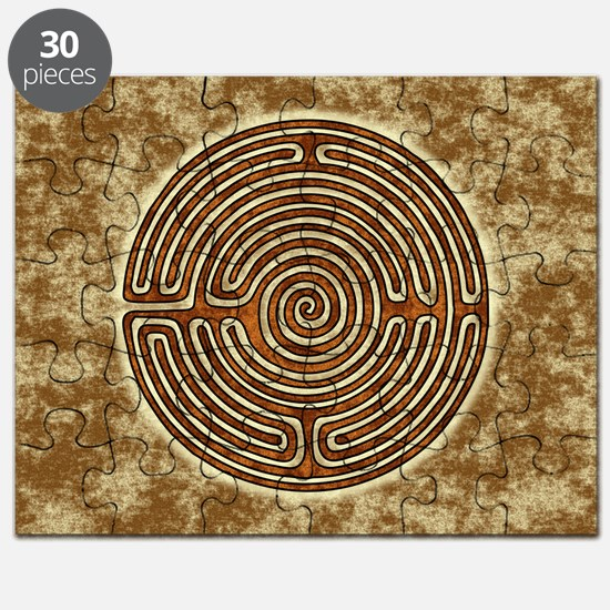 Brown Bayeux Cathedral Labyrinth Puzzle