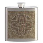 Brown Bayeux Cathedral Labyrinth Flask