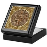 Brown Bayeux Cathedral Labyrinth Keepsake Box