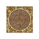 Brown Bayeux Cathedral Labyrinth Sticker