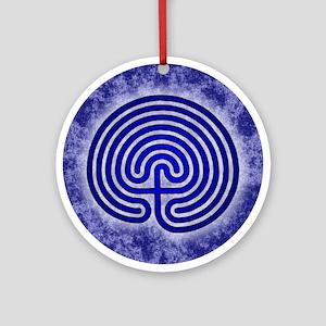 Blue Meis Galicia Labyrinth Round Ornament