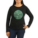 Green Chartres Cathedral Labyrinth Long Sleeve T-S